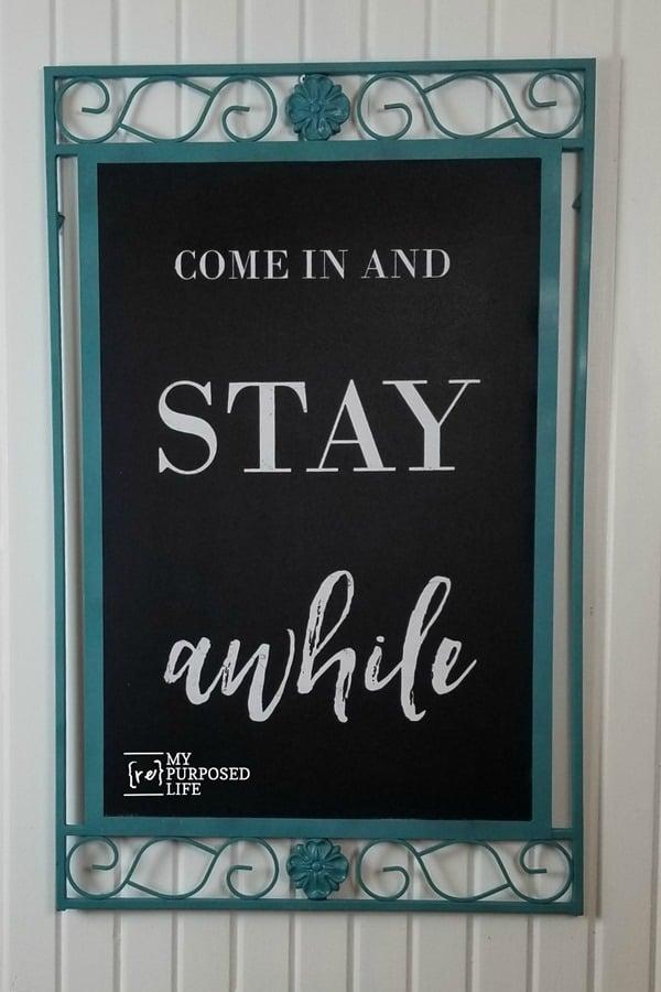 mirror frame chalkboard with Chalk Couture Transfer MyRepurposedLife