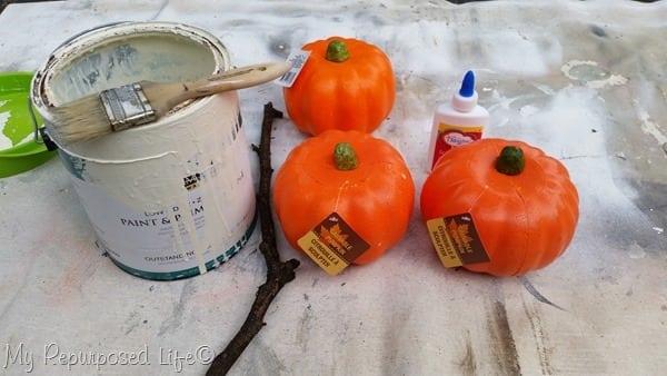 dollar store pumpkins