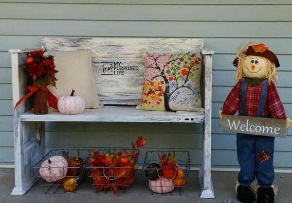 painted crackled dollar store pumpkins fall decor MyRepurposedLife
