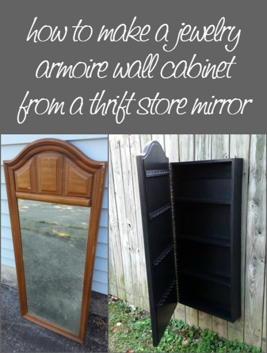 how to make a jewelry armoire to hang on the wall