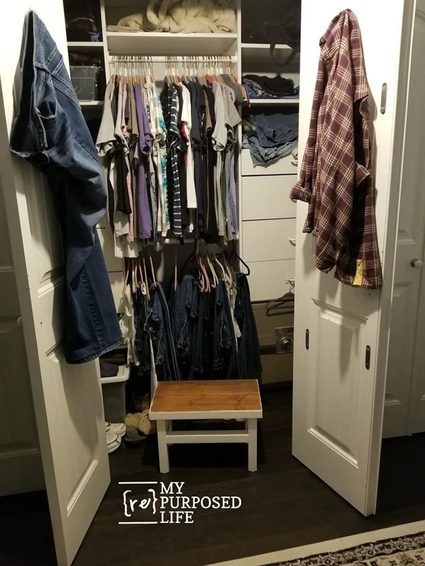 short over sized step stool for master closet MyRepurposedLife