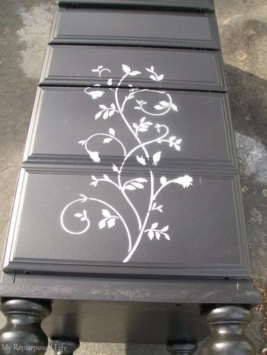 stencil drawer fronts