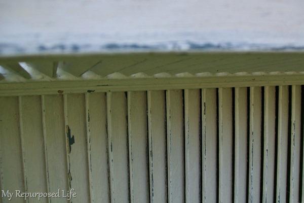 white chippy shutter shelf tutorial