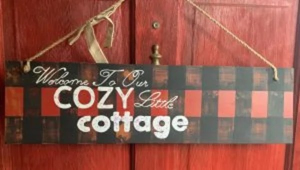 cozy cottage sign