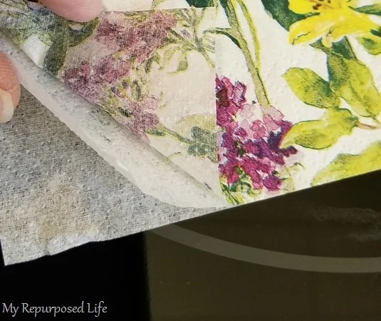 decoupage separate three ply napkin