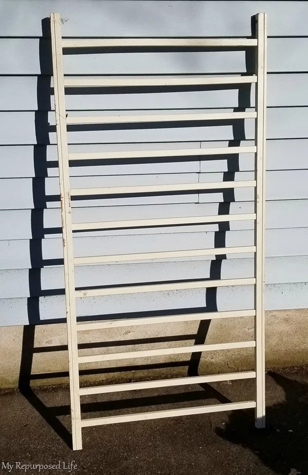 repurposed crib rail