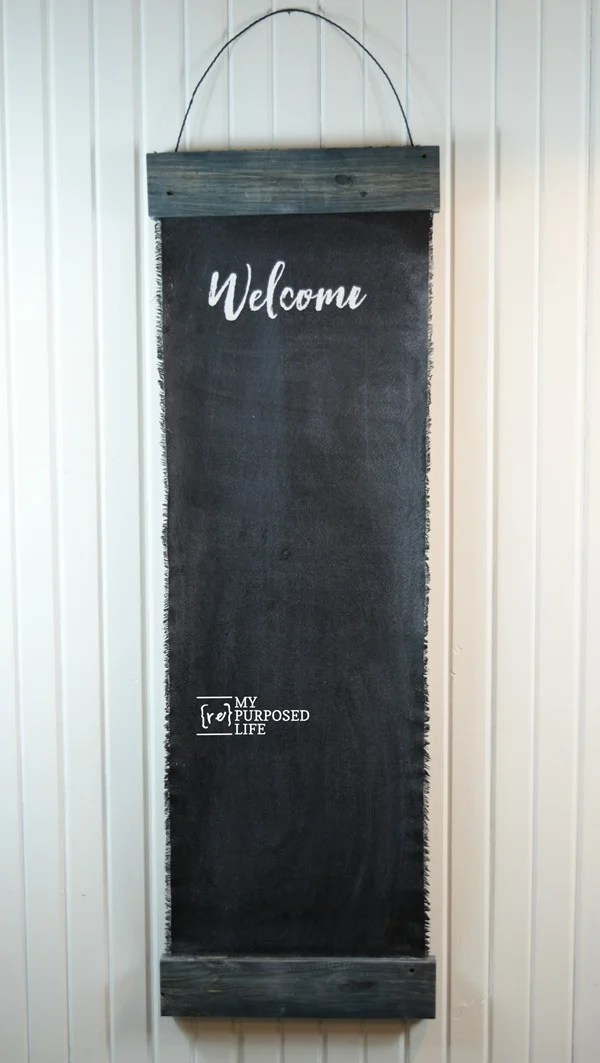 how to make a drop cloth pallet board chalkboard MyRepurposedLife