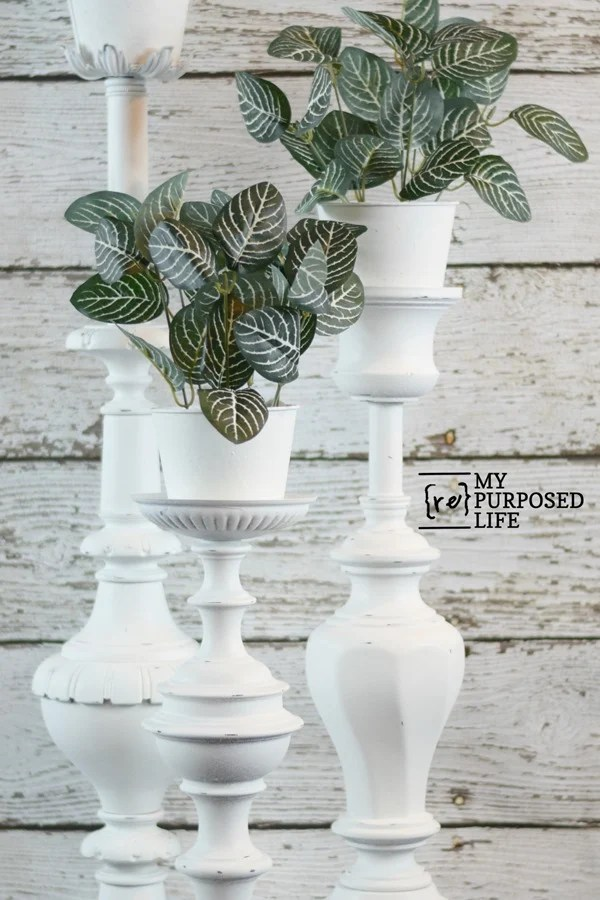 plant stands made from repurposed lamps MyRepurposedLife