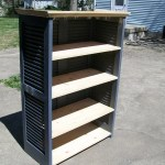 Shutters Repurposed into Bookshelf