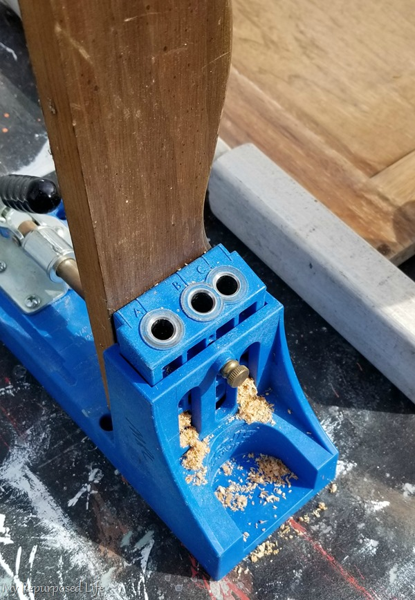 drill pocket holes with kreg jig