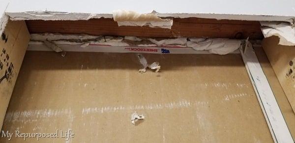 header mud and scrap drywall