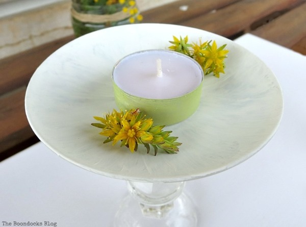 make glass pedestal plates