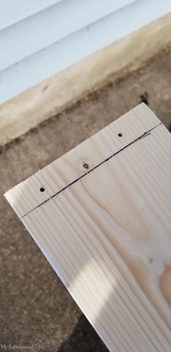 pilot holes and wood screws for closet insert