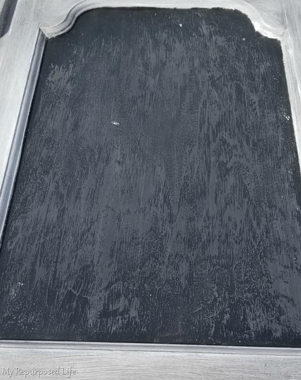 sanded bad chalkboard paint