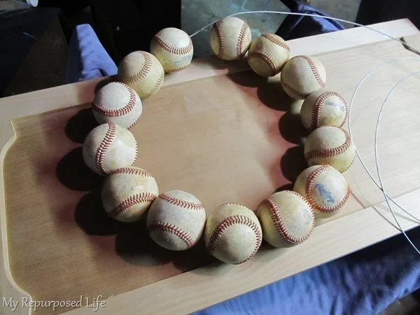 Repurposed Baseball Wreath My Repurposed Life
