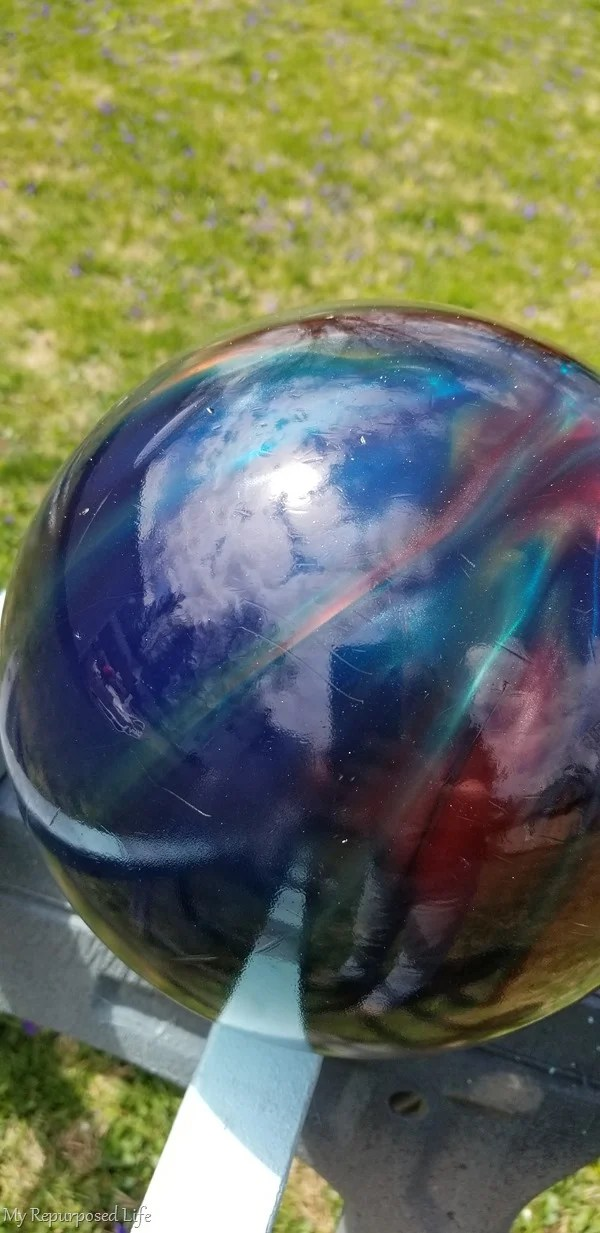 colorful gazing ball