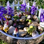 tabletop fairy garden using Dollar Store Items