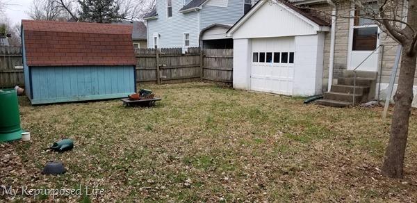 garage view backyard outdoor overhaul