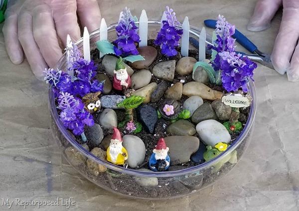 how to make a small tabletop fairy garden