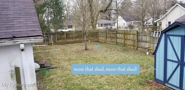 move a garden shed across the yard
