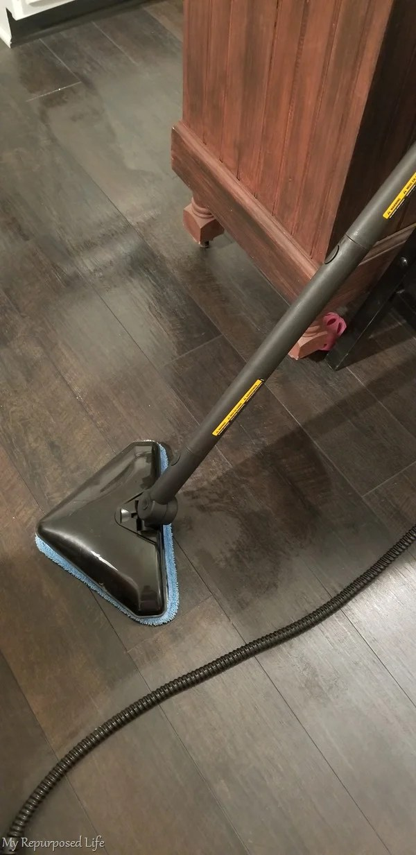 steam machine cleans laminate kitchen floor