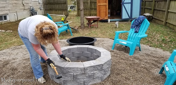 how to DIY fire pit