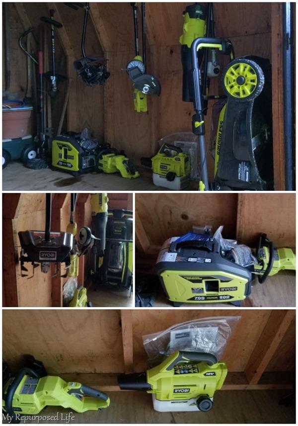 how to store ryobi 40v yard tools