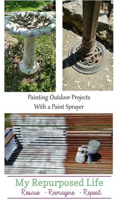 painting outdoor projects with a paint sprayer MyRepurposedLife