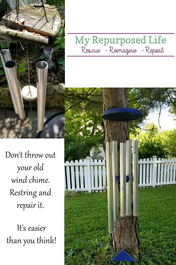 save the wind chimes How to restring and repair your favorite wind chime MyRepurposedLife