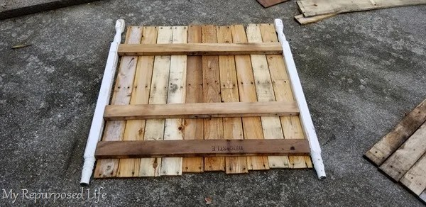 test fit pallet boards and crib posts