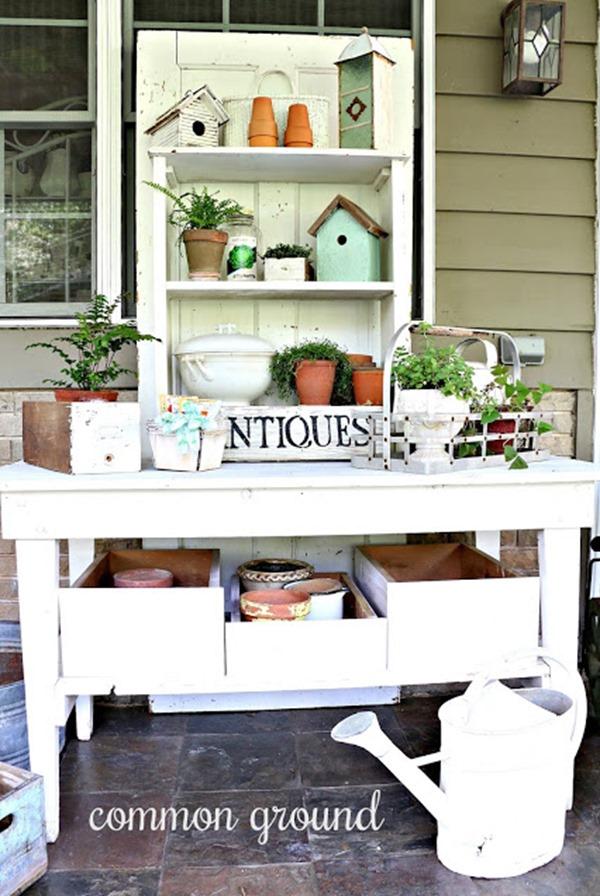 back porch potting bench
