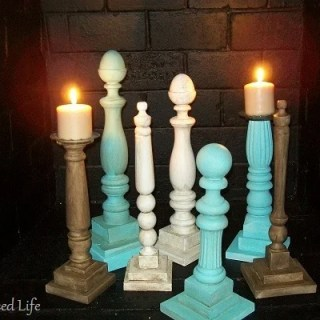 ciy candlesticks in fireplace