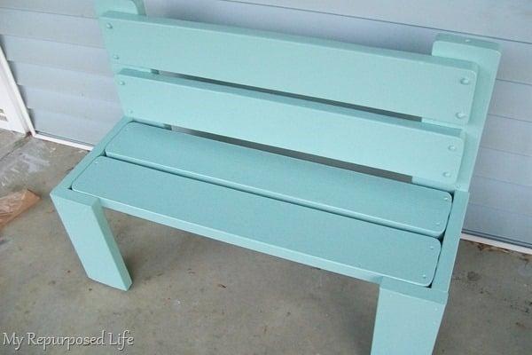 easy bunkbed bench redo