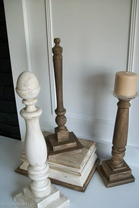 glazed diy candlesticks