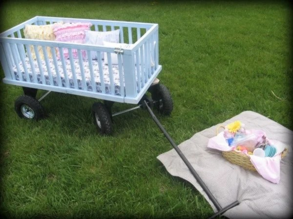 wagon made from crib rails