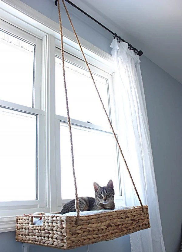 hanging window cat basket