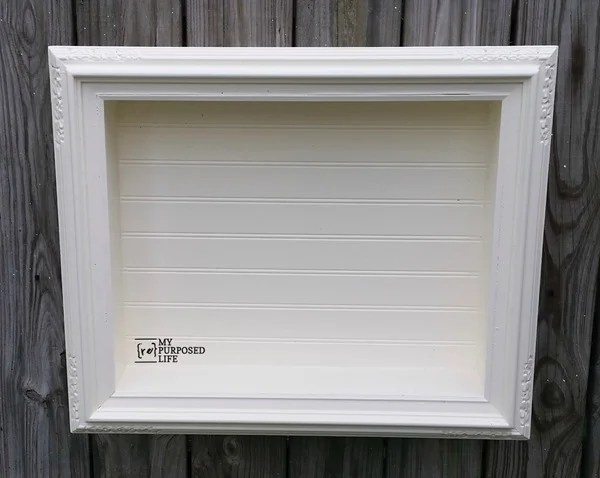 easy picture frame shadow box