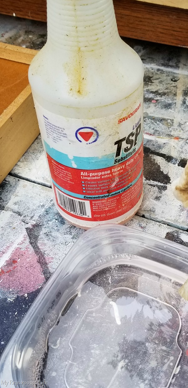tsp for cleaning furniture projects