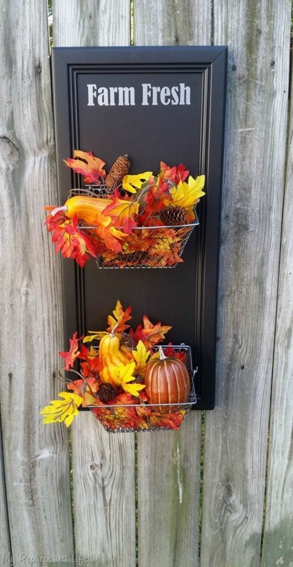 farm fresh produce bin fall decor