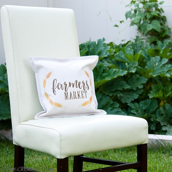farmhouse Farmers Market pillow
