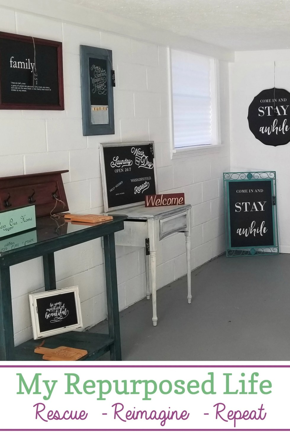 sometimes you have to think outside the box and get creative when you're a furniture flipper. An old outbuilding gets and update and serves a new purpose. #MyRepurposedLife #furniture #flipper #repurposed #outbuilding #booth #selling via @repurposedlife