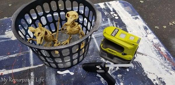 enclose skeletons in basket