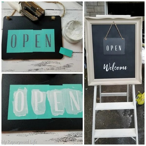 how to open closed sign with chalk paste