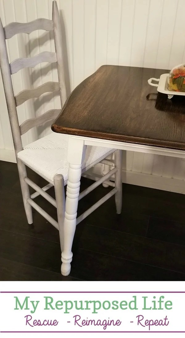 Gail from My Repurposed Life loves doing easy furniture flips, and is always ready to give you the best tips about painting and repurposing furniture. You can learn from her mistakes, and she's always willing to accept your feedback about her projects. #MyRepurposedLife #furniture #makeover #painting #ladderback #chairs via @repurposedlife