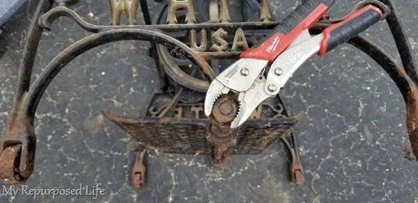 rusty bolts locking pliers