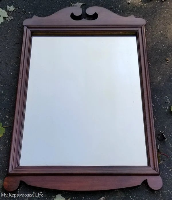 stained vintage mirror