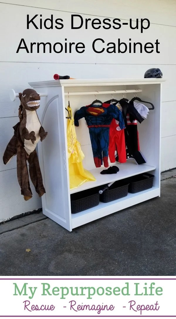 kids dress up armoire cabinet MyRepurposedLife