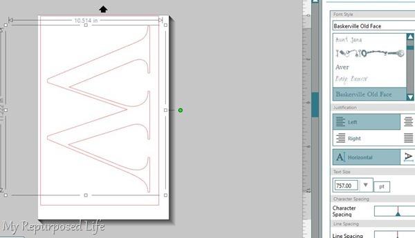 make monogram on silhouette portrait