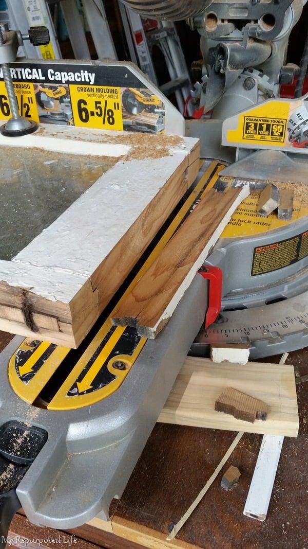 sliding miter saw cuts window