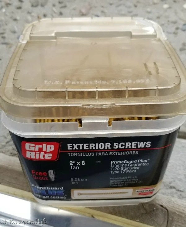 exterior wood screws for hanging farmhouse shutters